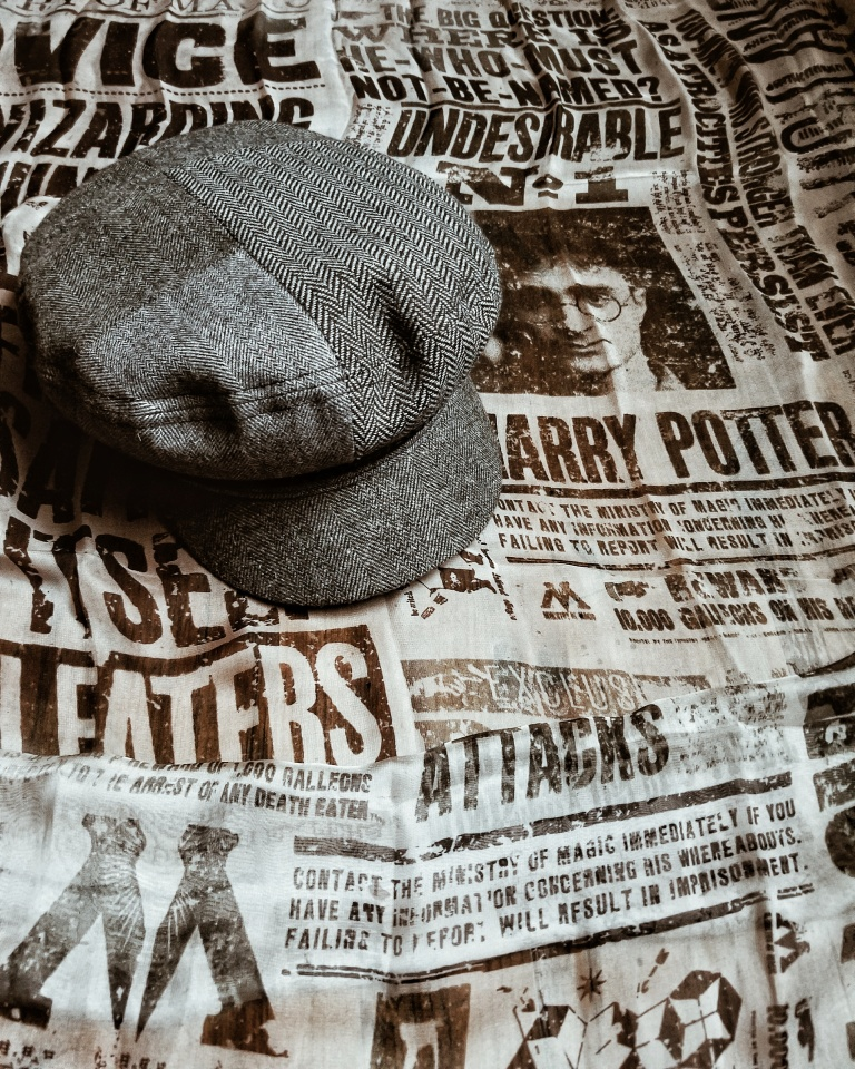 The patchwork herringbone pattern on this cap adds such visual interest!